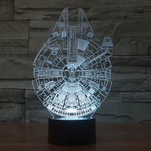 New 3D LED Night Lights Star Wars Acrylic Table Lamp For Party Baby Toy Christmas Gift Home Decor Yoda BB8 Millennium Falcon