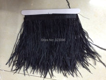 "Free Shipping 10meters 4-6"" 10-15cm width Beige Cream Ivory Ostrich Feather fringe Ostrich feather Trimming"