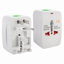 Universal World Wide Travel Charger Adapter Plug EU / AU/ UK / US / CN / JP / HK Euro 2016 Surge Protector European Plug Adaptor(China)