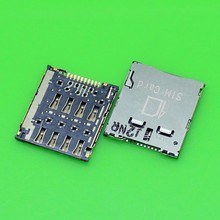 10pcs For Samsung C101 for OPPO X907 for Asus K004 and for Sky pantech A860 SIM card holder connector socket tray(China)
