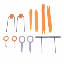 12pcs/set Vehicle Dash Trim Tool Set Car Door Panel Audio Dismantle Remove Install Pry Kit Professional Refit Hand Tools TH4