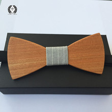 new Fashion Solid Good Cherry  Wood Bow Tie For Men Butterfly Neck Tie wooden bowtie 1pcs free shipping