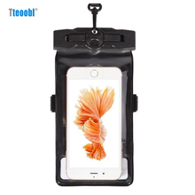 "Tteoobl 4.8""~ 6.3"" Mobile Phone Pouch 20M Waterproof Bag Underwater Dry Case Cover For Canoe Kayak Rafting Camp Swiming Drifting(China)"