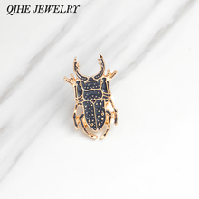 QIHE JEWELRY Brooches & pins Insect pins Animal jewelry Denim jacket hat bag Pin Badge Fashion jewelry Brooches wholesale(China)