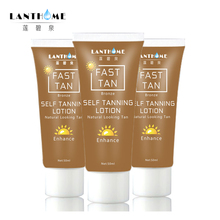 Dropshipping Self Tan Mitt for Bronzer Face Body Solarium Cream for Day tanning Sun block makeup foundation tanner lotion(China)