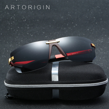 ARTORIGIN Cool Men Sunglasses Polarized Super Quality Male Driving Glasses Flat Tope Coating Inside Large Eyewear With Box AT010(China)