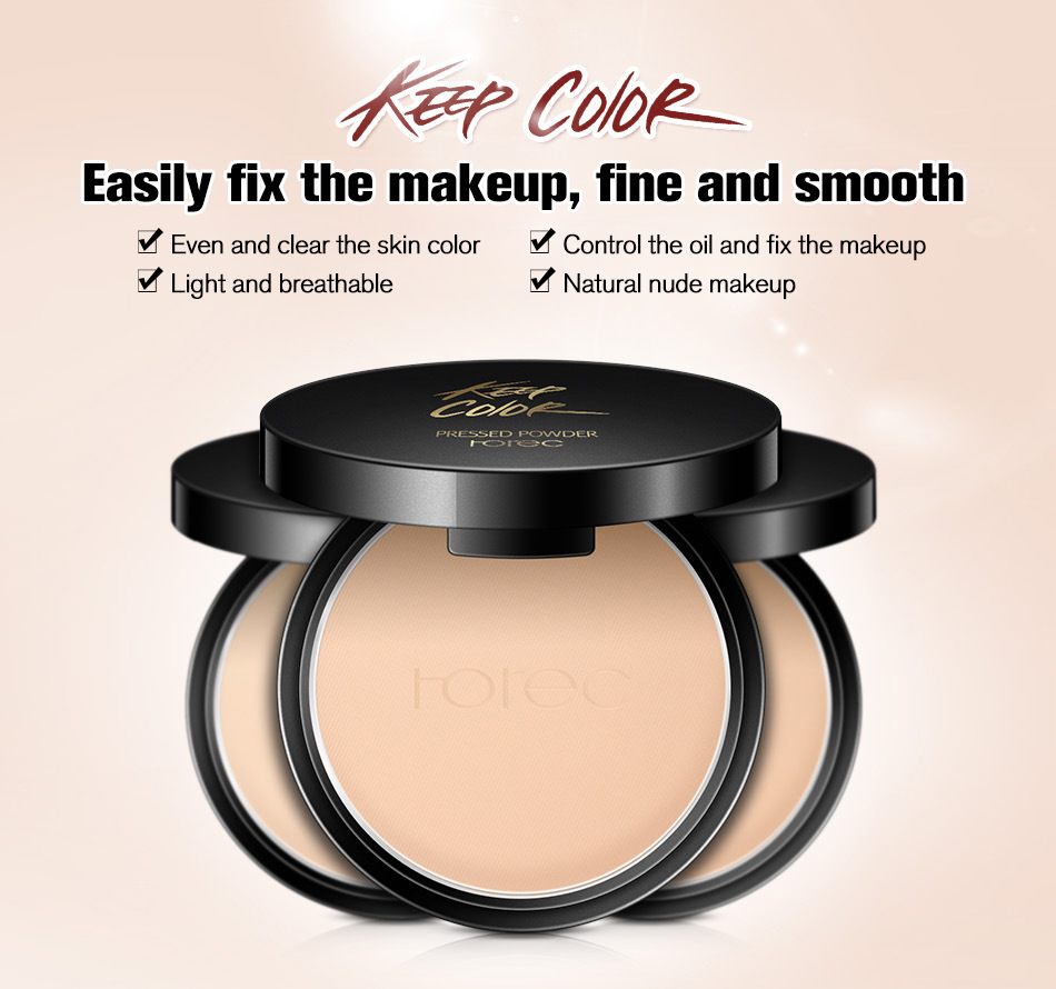 ROREC Mineral Pressed Face Powder Concealer Base Makeup Performance Wear Powder Foundation Compact Powder Makeup Illuminator 1