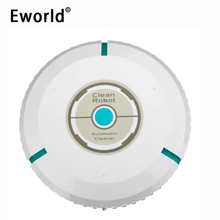 Eworld New Arrival 9 inch Home Robotic Smart Auto Cleaner Robot Microfiber Mop Dust Cleaning White M881(Free to RUS)(China)