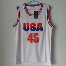LIANZEXIN USA Donald Trump #45 Basketball Jersey 2017 Commemorative Edition White Color Throwback Basketball Jerseys On Sale(China)