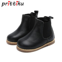 Kids' Classic Winter Warm Shoes Genuine Leather Faux Fur Lining Martin Boots (Toddler/Little Kid)(China)