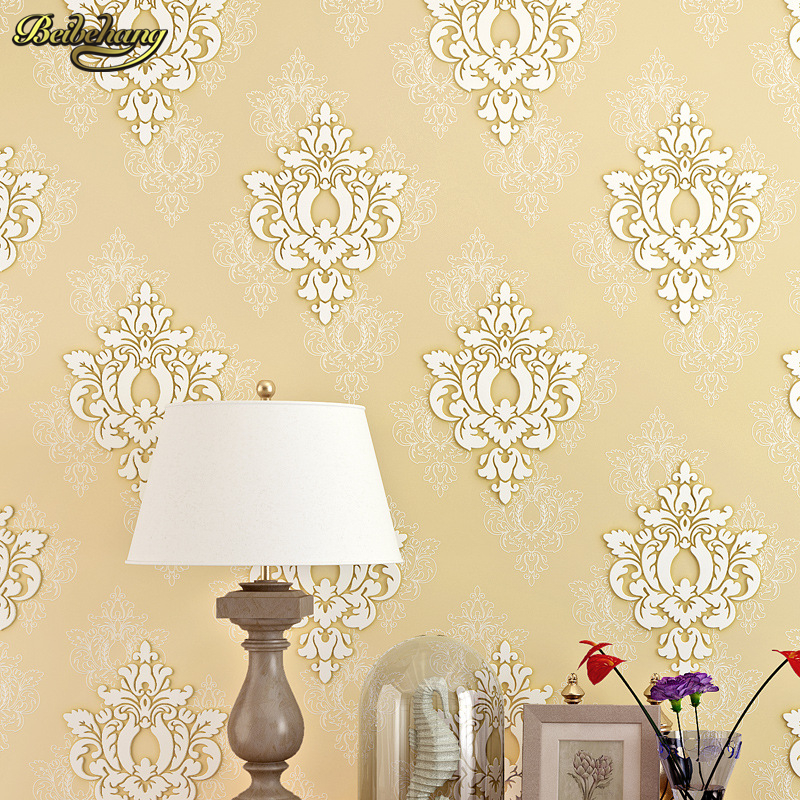 beibehang papel de parede Pressure 3D non - woven wallpaper luxury European - style living room wallpaper background wall paper<br>