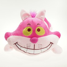 30cm cartoon Alice in Wonderland pink Cheshire Cat Anime Soft Stuffed plush toys for kids brithday gifts