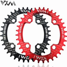VXM MTB Bike Oval Chainwheel Crankset Ellipse Plate 104BCD 32T 34T 36T 38T Cycling Chainring Narrow Wide Ultralight Bicycle Part(China)