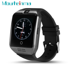 Q18 Smart Watch Bluetooth Support SIM TF Card Sleep Tracker Pedometer SmartWatch with 0.3MP Camera For Android phone(China)