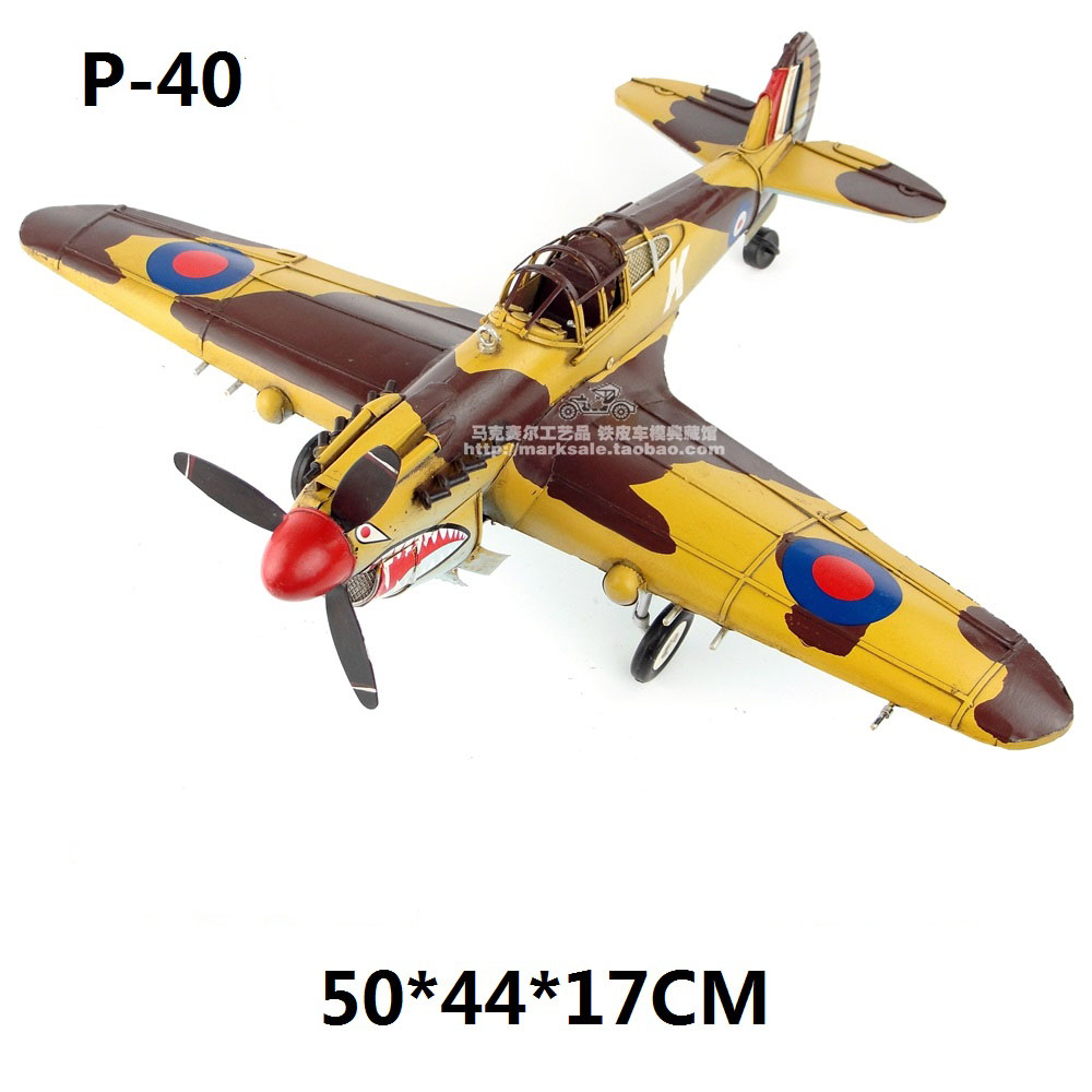 Brand New Plane Model Toys World War II Curtiss P-40 Fighter (Flying Tiger) Diecast Metal Airplane Model Toy For Gift/Collection(China)