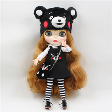 Kumamon Free shipping for icy blyth doll jecci five 1/6 30cm hat bag stocking shirt suit dress super cute(China)