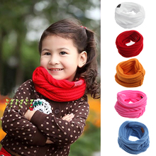 Children Autumn Winter Warm red Scarf Scarves Baby Girl Sweet Warm Neck Scarves Bibs