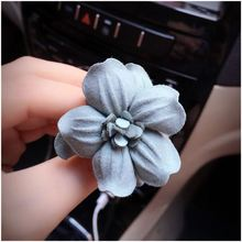 Auto Parts Rose Flower Fragrance Export Folders Aromatherapy Car Decorative Air Freshener, Gray green(China)
