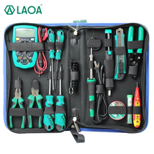 Buy LAOA 16PCS Electric Soldering Iron Multimeter Telecommunications Repair Tool Set Screwdriver Utility Knife Pliers Handle Tools for $52.89 in AliExpress store