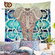 BeddingOutlet Indian Style Tapestry Elephant Printed Wall Hanging Carpet Rectangle Decorative Tapestries Sheet Polyester 2 Sizes(China)