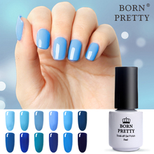 BORN PRETTY 5ml Nail Gel Polish Blue Series Soak Off Gel Long Lasting UV Gel Varnish Manicure 12 Colors Nail Art Gel Polish(China)