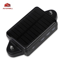 Vehicle GPS Tracker Realtime Tracking Device Car Locator Solar Panel Power Supply Waterproof Strong Magnet Free Web APP Tracking
