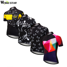 Weimostar Cycling Jersey Men Shirt Summer Breathable Cycling Clothing Quick Dry MTB Bike Jersey Downhill Bicycle Clothing