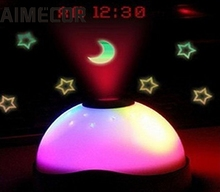 My House Fashion Best Selling New 7 Colors LED Change Star Night Light Magic Projector Backlight Clock Free Shiping Aug15