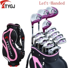 Brand TTYGJ  13-pieces golf clubs LEFT handed female women ladies golf clubs complete set Graphite and steel shaft with bag