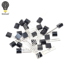 2N2222A Free shipping 100pcs in-line triode transistor NPN switching transistors TO-92 0.6A 30V NPN 2N2222(China)