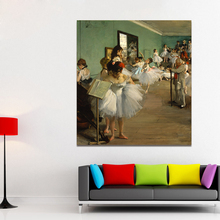 HDARTISAN Figure Canvas Art Edgar Degas The Dance Class Classical Wall Pictures For Living Room Home Decor Printed Painting(China)
