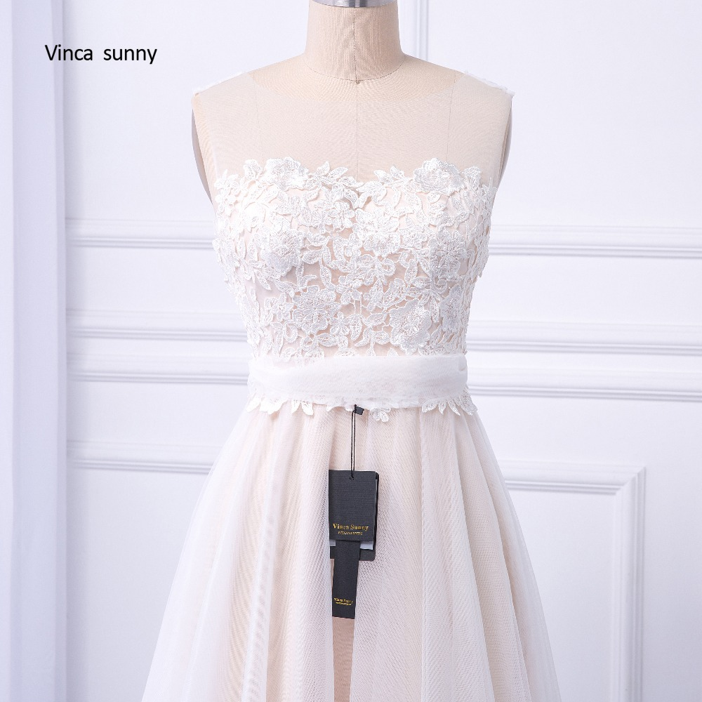 vinca sunny Bohemian Wedding Dresses French Lace sleeveless Boho Beach Wedding Dress zippe Back Bridal Gowns vestido de noiva 2