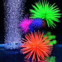 New Silicone Aquarium Fish Tank Decor Artificial Coral Plant Underwater Ornament Random Color(China)