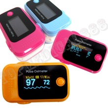 2 Parameter SPO2 PR OLED Pulse Oximeter Blood Oxygen Monitor Pink, Blue, Orange,Gray Color