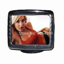 "3.5"" Color TFT LCD Car Monitor 3.5 inch Car TV monitor fit for Reverse Backup Rearview Camera DVD free / drop shipping"