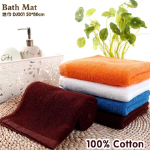 100% Cotton Bath Towel Jacquard design Thick High Quality Towels Bathroom /Hotel White Color Bath Mat 180g  2 pieces a lot