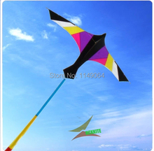 free shipping high quality 2.4m black purple firebird kite with handle line ripstop nylon fabric kite bee kite 3d crafts hcxkite