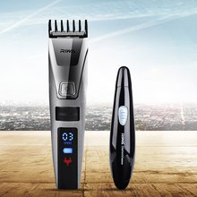 Waterproof Electric Hair Clipper Razor LCD Display Men Shaver Hair Trimmer+2 In 1 Nose Hair Trimer Shaver Blade Sideburns Razor(China)