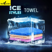 Travel accessories Cool ice towel Ice Towel Utility Enduring Instant Cooling Towel Heat Relief Reusable Cool Towels Box(China)
