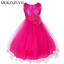 MOLIXINYU Girl Dresses Floral Ball Gown Clothing For Girls Clothes Children Christmas Princess Summer Girl Party Dress For Kids(China)