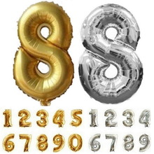32 inch Number Foil Balloon Digit Helium Ballons Wedding Birthday Decoration Air Balloon Kids Party Favor Supplies