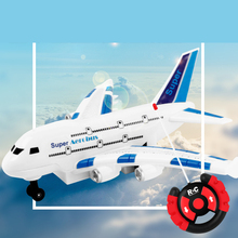 Buy 2 Channels Plastic RC Airbus Model Airplane Electric Flash Light Sound Toys Aircraft Model RC Plane Airplane Toys Kids Gift for $13.48 in AliExpress store
