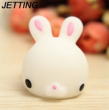 JETTING Rabbit Squishy Slow Rising Kawaii Mini Mochi Bunny Phone Strap Squeeze Stretchy Cute Pendant Bread Cake Kids Toy Gift