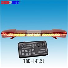 TBD-14L21 High quality DC12V/24V LED emergency warning lightbars,rescue/police/fire roof car light bar/flashing strobe lightbar(China)