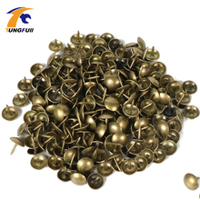 100pcs 9x9mm Antique Brass Bronze Upholstery Nail Jewelry Gift Wine Case Box Sofa Decorative Tack Stud Pushpin Doornail Hardware