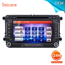 "seicane 7"" car Radio DVD Player GPS Navigation for 2003-2013 VW Volkswagen Golf 5 MK5 Support Aux iPod With CANBUS Bluetooth(China)"