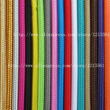 50M vintage cable 2*0.75 textile fabric electrical wire DIY pendant light electrical cable woven braided cable power cord