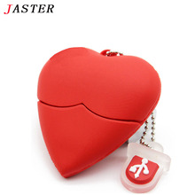 JASTER Love heart style usb flash drive pen drive 4gb 8gb 16gb usb stick pendriver u disk thumb drive necklace a good gift