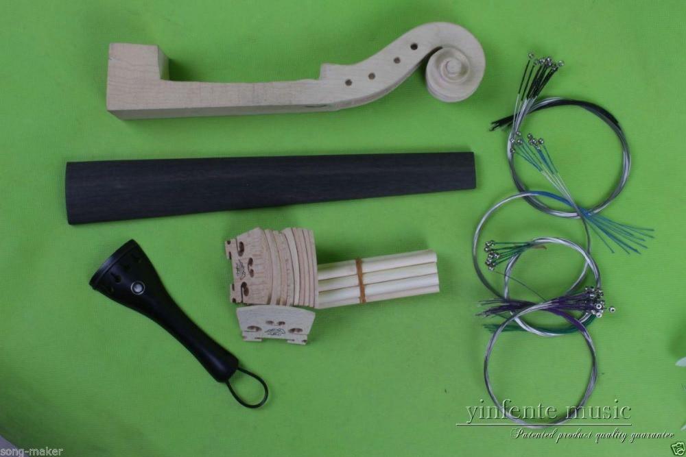 4/4 violin parts,maple Bridge Neck Sound Post string Fingerboard tailpiece #688<br><br>Aliexpress