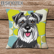 Schnauzer 45X45cm Pillow Cases Pillowcase Cushion Cover Christmas Festival Bedroom Sofa Decoration(China)